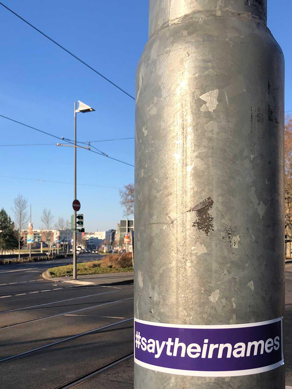 1 Jahr nach dem Anschlag in Hanau - Straßenaktionen in Frankfurt am Main
