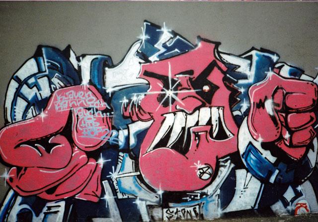 Graffiti 1990 in Frankfurt