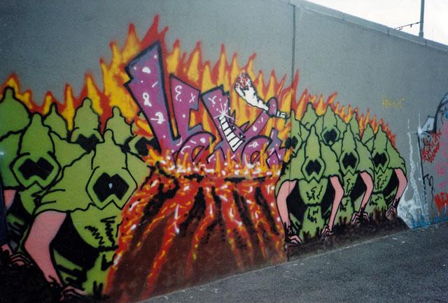Hexer-Graffiti 1990 in Frankfurt