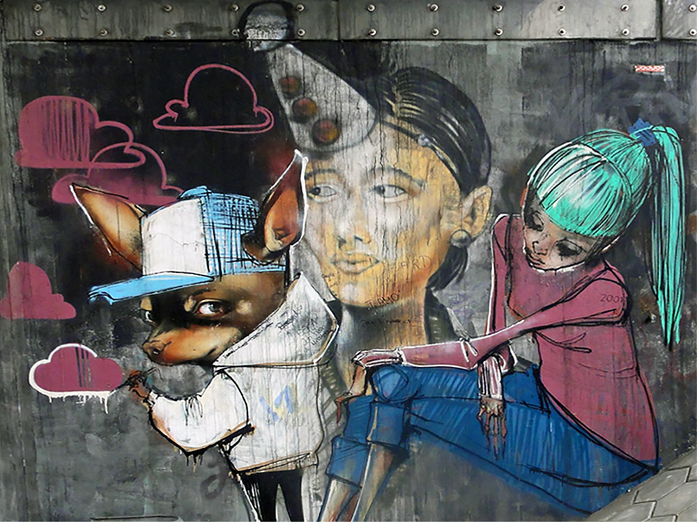 Streetart in Frankfurt von Herakut