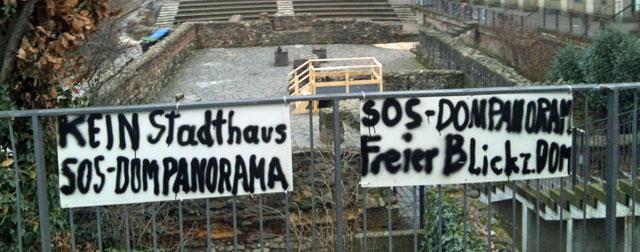 Proteste am Dom/Römer-Projekt: KEIN STADTHAUS