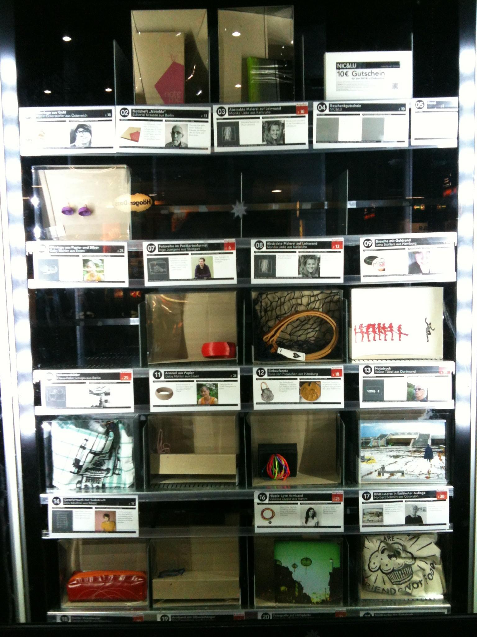 Fashion, Art und Design im Automat: Nic & Lu