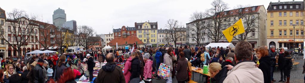 Lärmteppich am Wilhelmsplatz in Offenbach