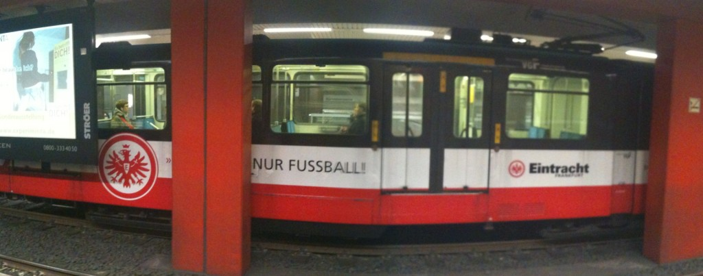Eintracht Frankfurt U-Bahn in Frankfurt am Main