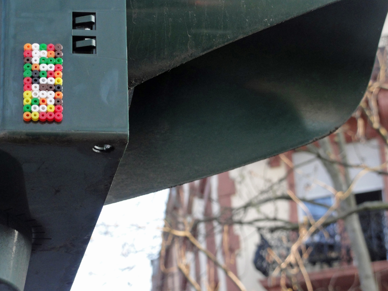 Streetart aus Bügelperlen in Frankfurt
