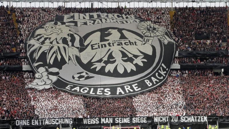 Choreo der Eintracht Frankfurt Ultras