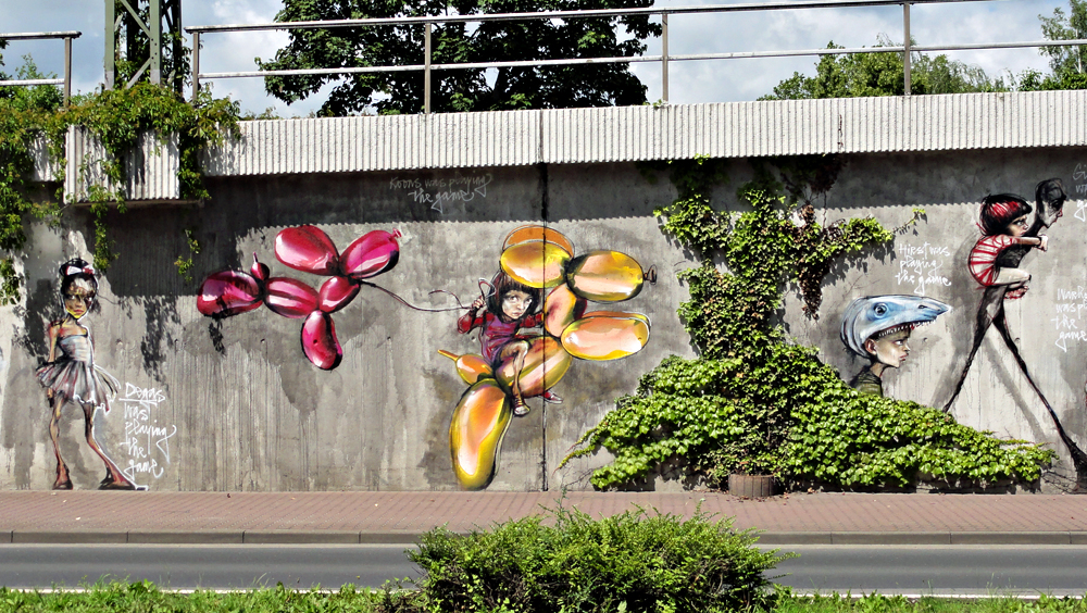 Street Art von Herakut in Bad Vilbel