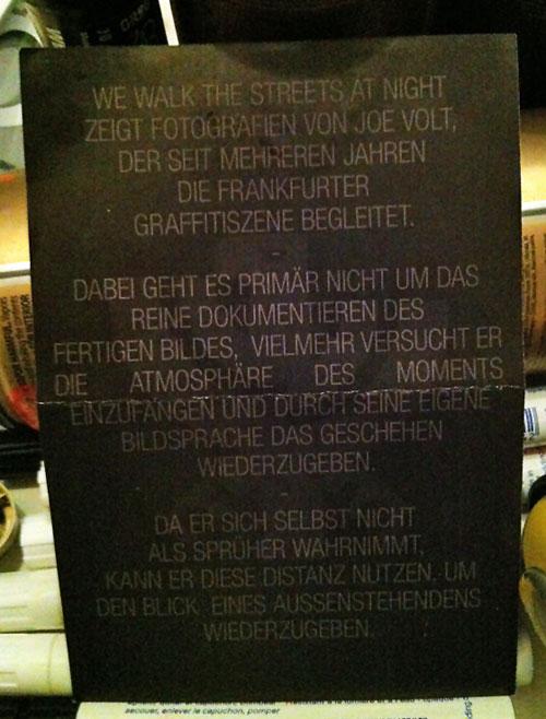 Joe Volt - Foto-Ausstellung in der Kaiserpassage