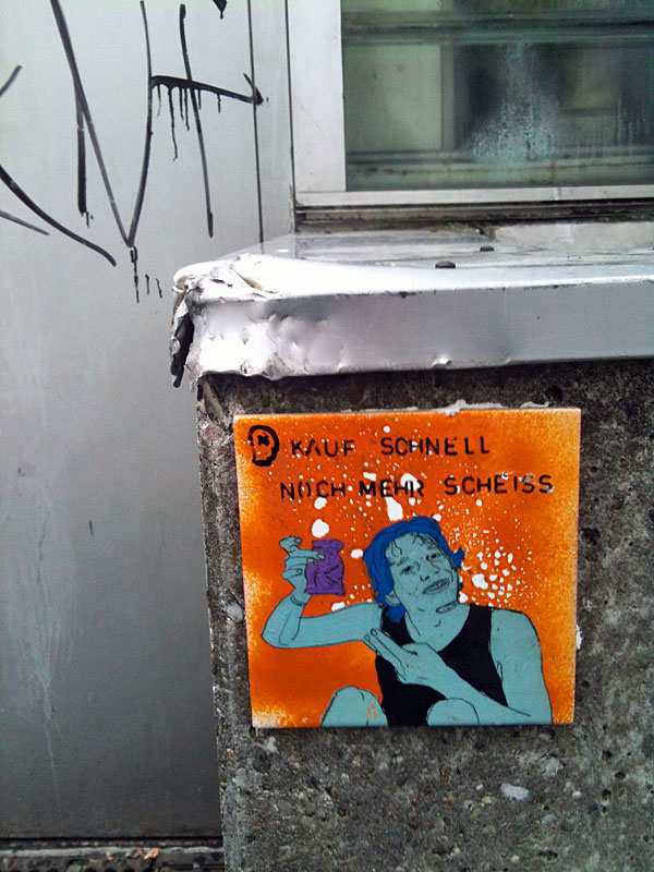 Kauf-schnell-noch-mehr-Scheiss-Kachel-Tile-Streetart-Frankfurt