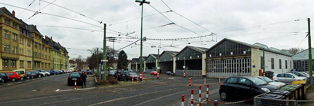 Straßenbahndepot der VGF