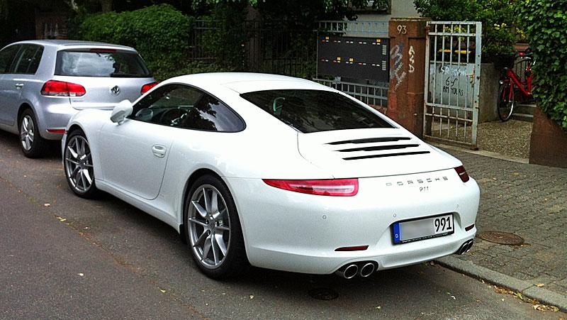 Weißer Porsche
