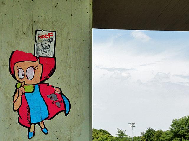 el-bocho-streetart-frankfurt-little-lucy-katze-doof
