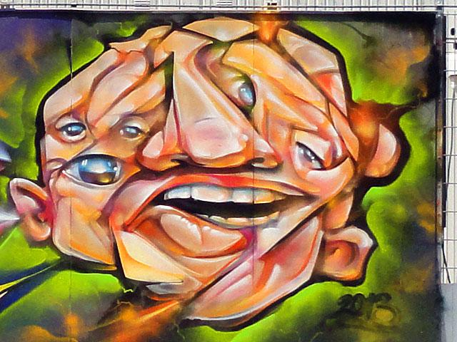 voir graffiti ezb frankfurt 4