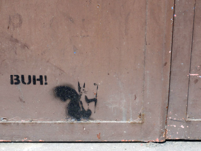 BUH! eichhörnchen streetart frankfurt 03