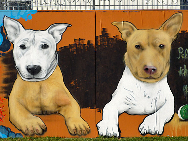 who-let-the-dogs-out-graffiti-frankfurt-ezb