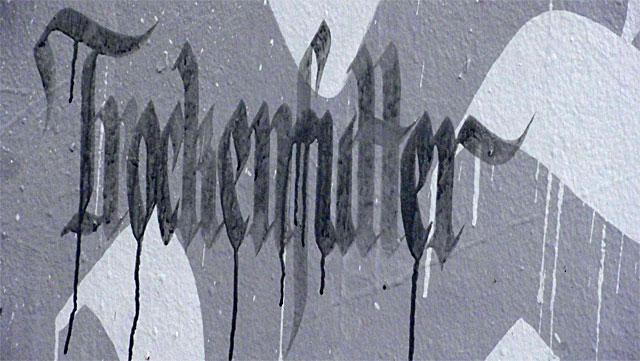 Graffiti an der Friedensbrücke - Auf den Hund gekommen