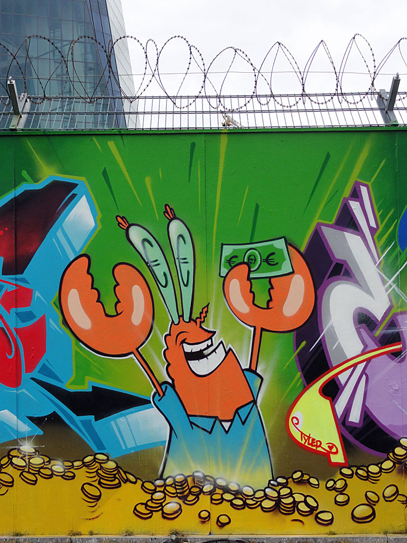 """Mr. Krabs""-Graffiti by KENT + CANTWO"