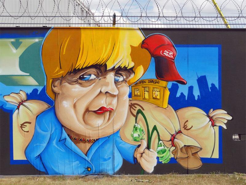 Angela Merkel-Graffiti