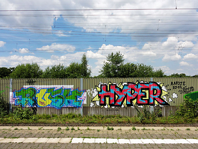 Graffiti in Offenbach - RUSH, HYPER