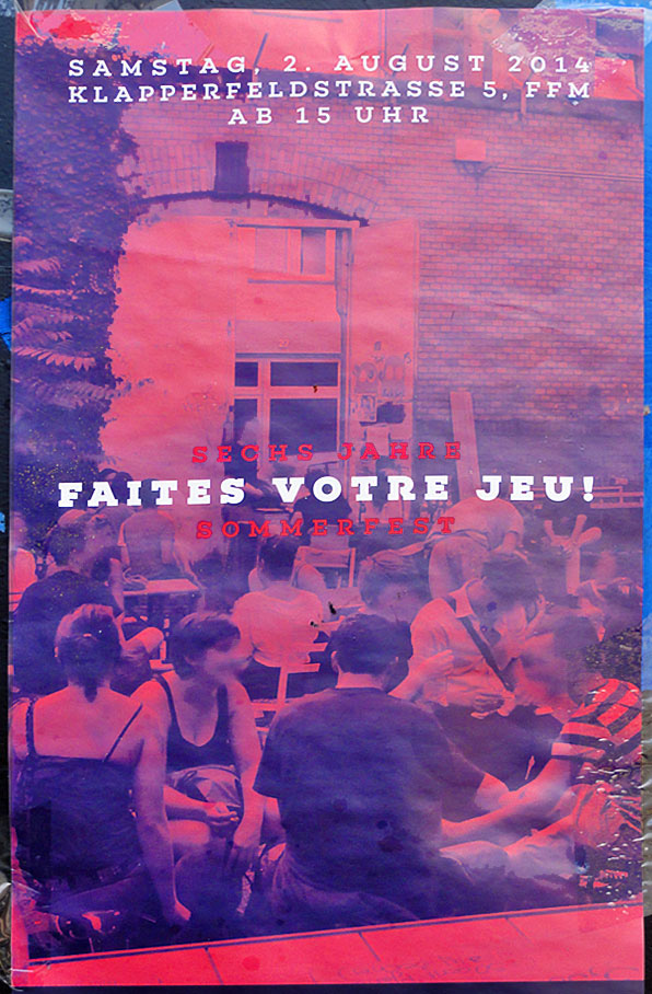 FAITES VOTRE JEU! Sommerfest