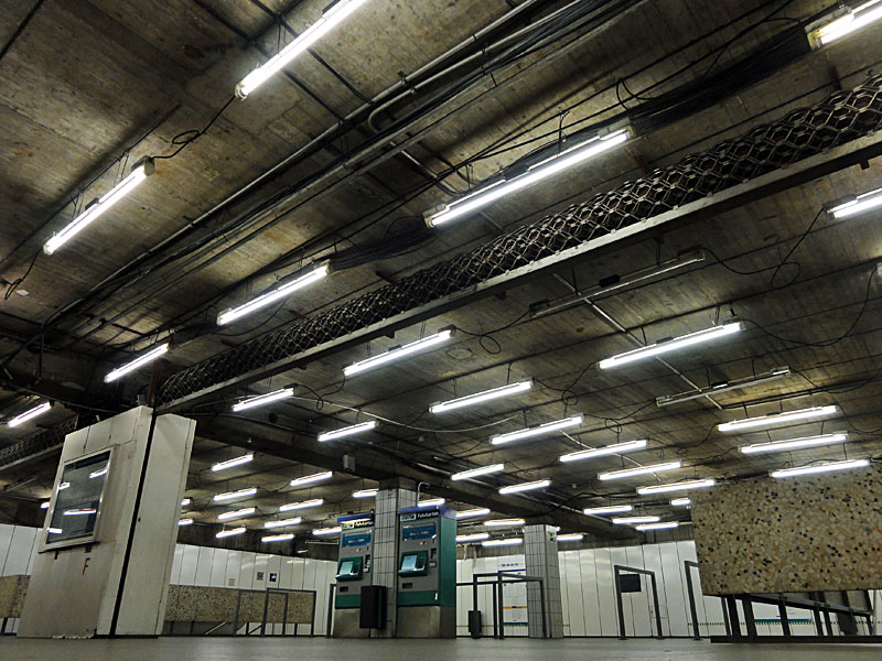 Foto der Unterführung an der U-Bahn-Station Miquel- / Adickesallee 5