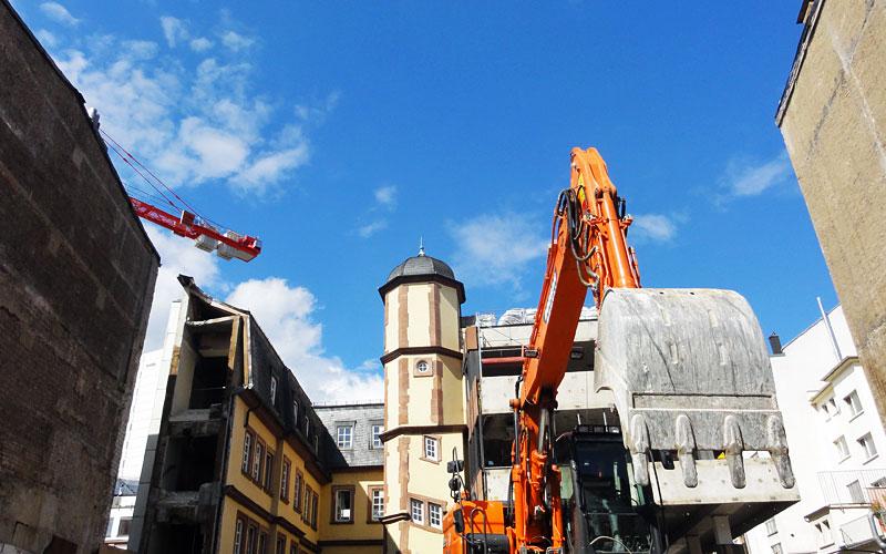 Baustellen in Frankfurt - Green Four in der Töngesgasse
