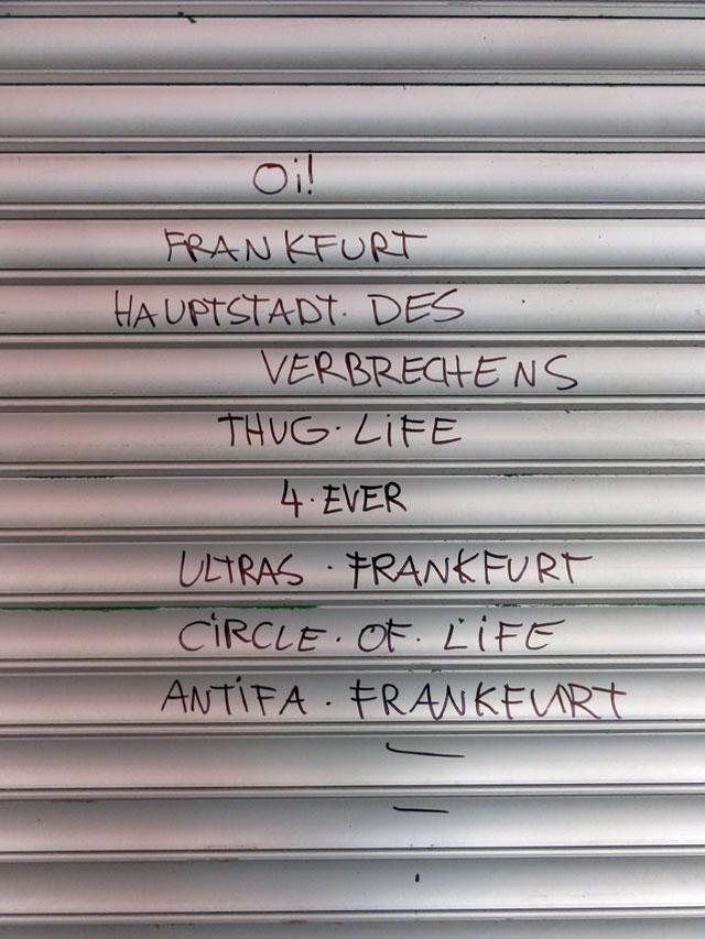 Streetart & Graffiti in Frankfurt am Main (09/2014)