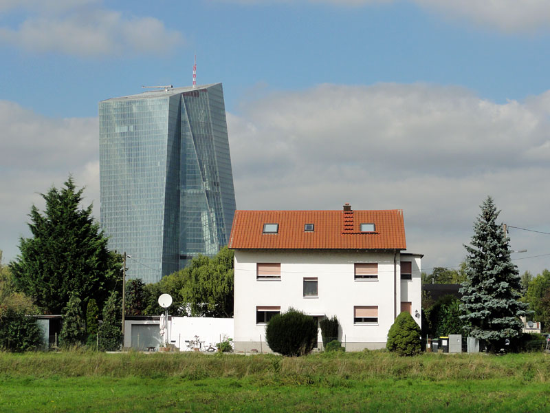 Fotos vom Neubau der Europäischen Zentralbank