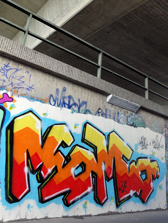 GRAFFITI IN FRANKFURT - HALL OF FAME RATSWEGKREISEL - AUGUST 2014