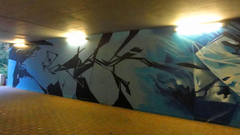 Graffiti in Frankfurt: Unterführung Rosa-Luxemburg-Straße