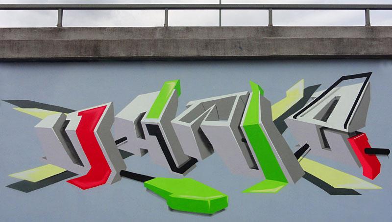 HALL OF FAME RATSWEG GRAFFITI IN FRANKFURT SEPTEMBER 2014 FOTO 2