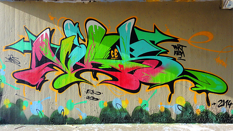 HALL OF FAME RATSWEG GRAFFITI IN FRANKFURT SEPTEMBER 2014 FOTO 8