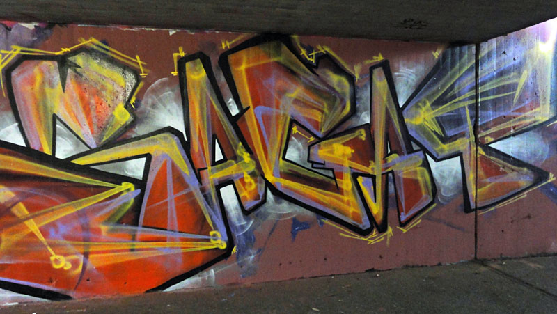 GRAFFITI IN FRANKFURT – HALL OF FAME RATSWEGKREISEL