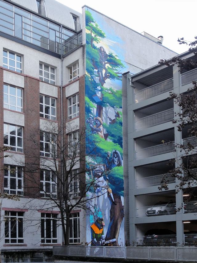 Tree of Society-Mural in Frankfurt von Guido Zimmermann