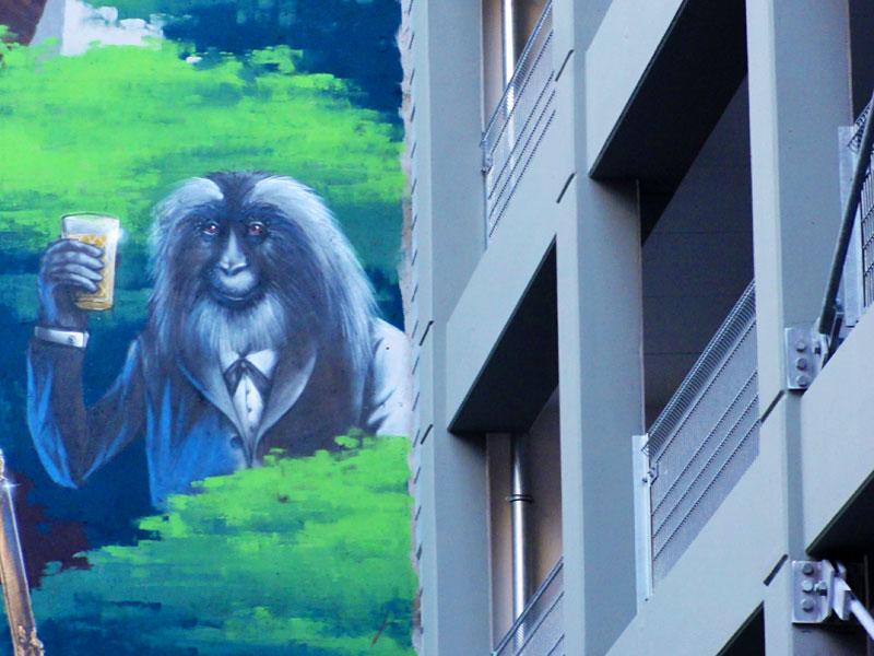 Tree of Society-Mural in Frankfurt von Guido Zimmermann
