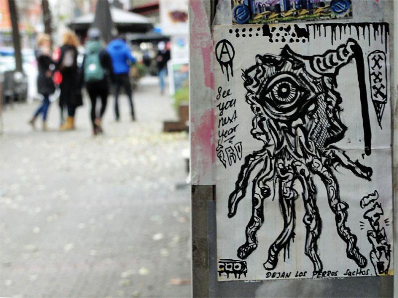 IRO-Sticker auf der Berger Straße