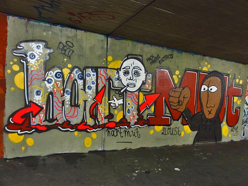GRAFFITI IN FRANKFURT – HALL OF FAME RATSWEGKREISEL - HARTMUT