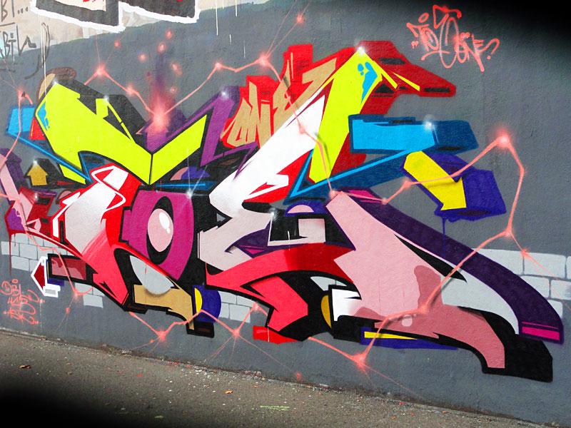 GRAFFITI IN FRANKFURT – HALL OF FAME RATSWEGKREISEL - TOE ONE