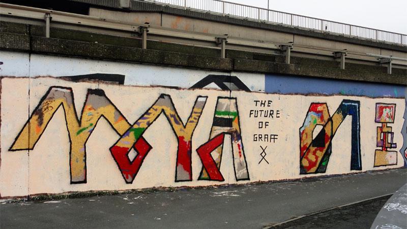 GRAFFITI IN FRANKFURT – HALL OF FAME RATSWEGKREISEL - YOYA