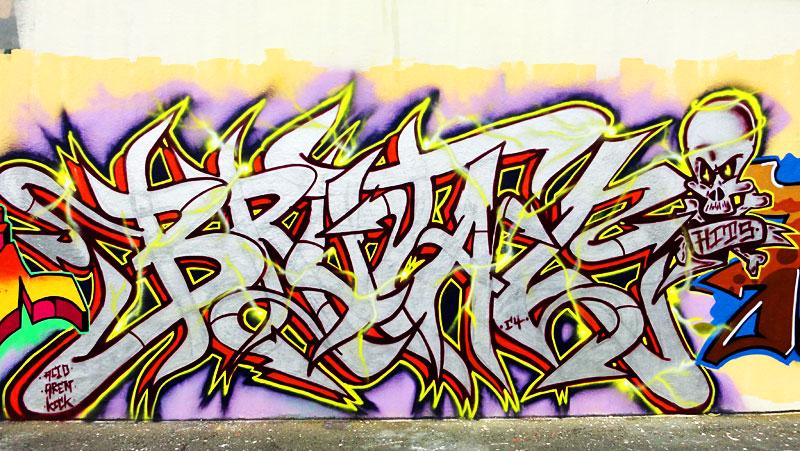 GRAFFITI IN FRANKFURT – HALL OF FAME RATSWEGKREISEL - BRUTAL