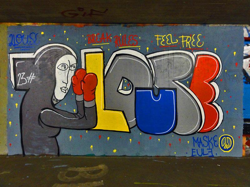 GRAFFITI IN FRANKFURT – HALL OF FAME RATSWEGKREISEL - 2 LOUSE