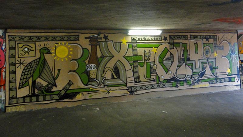 GRAFFITI IN FRANKFURT – HALL OF FAME RATSWEGKREISEL - EXOTIC