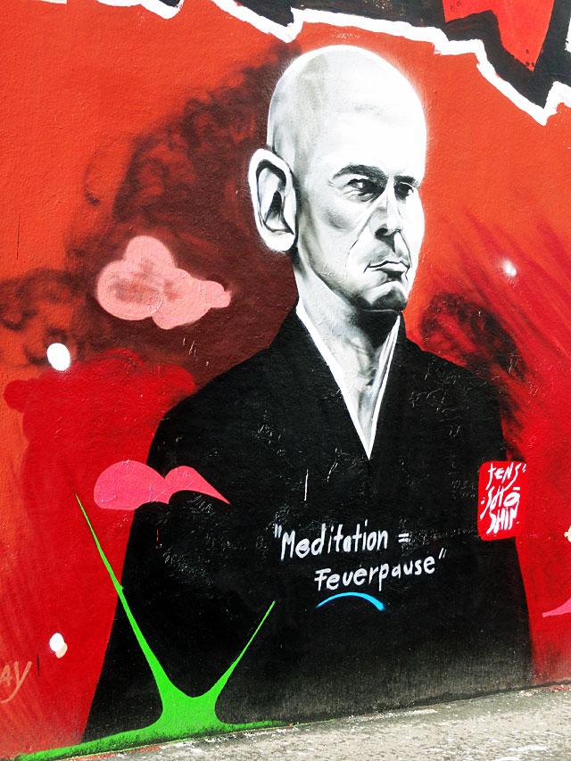 GRAFFITI IN FRANKFURT – HALL OF FAME RATSWEGKREISEL - JENS SHOSHIN