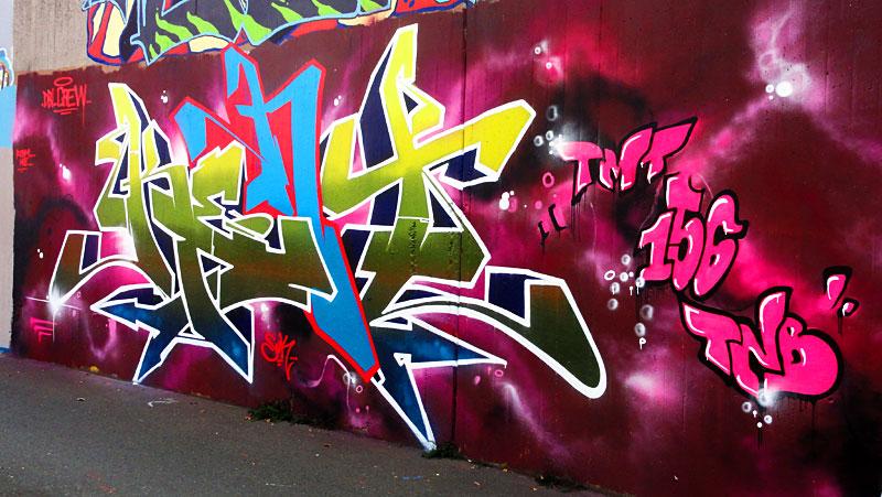 GRAFFITI IN FRANKFURT – HALL OF FAME RATSWEGKREISEL - KENT