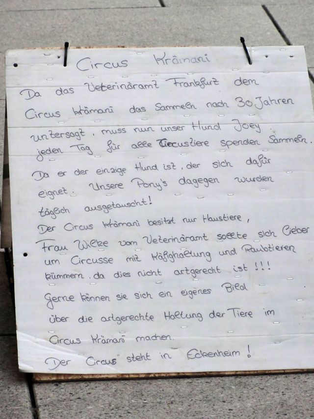 Statement von Circus Krämani