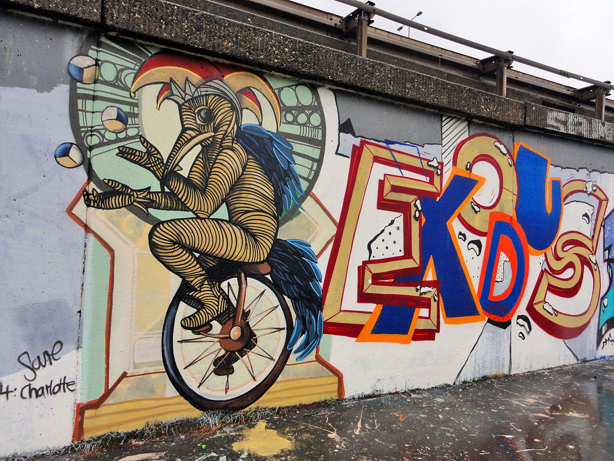 GRAFFITI IN FRANKFURT – HALL OF FAME RATSWEGKREISEL – FEBRUAR 2015