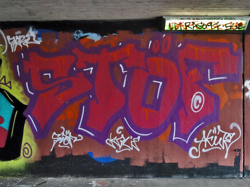 GRAFFITI IN FRANKFURT – HALL OF FAME RATSWEGKREISEL – FEBRUAR 2015