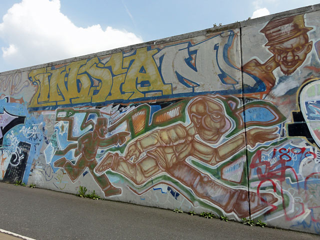 "Graffiti in Frankfurt - Sebastian ""INDIAN"" Stehr (Motiv von 1998)"
