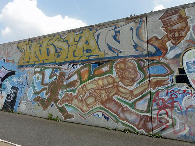 "Graffiti in Frankfurt - Sebastian ""INDIAN"" Stehr (Motiv von 1998)"