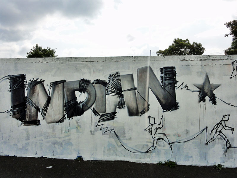 "Graffiti in Frankfurt - Sebastian ""INDIAN"" Stehr (Motiv von 2014)"